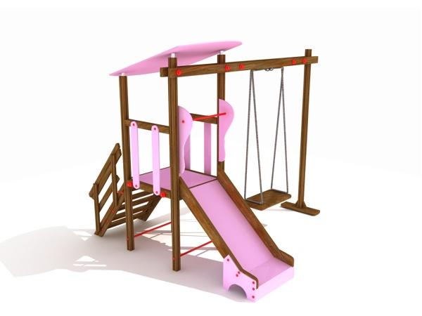 ahşap çocuk oyun parkı iç01n
