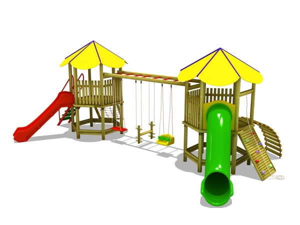 ahşap çocuk oyun parkı sg01n