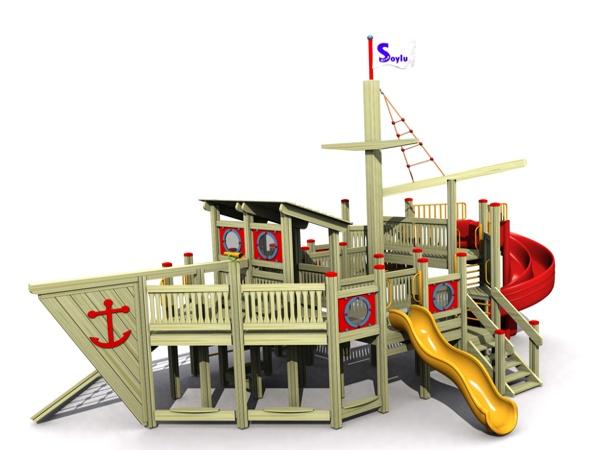 ahşap çocuk oyun parkı sg14n