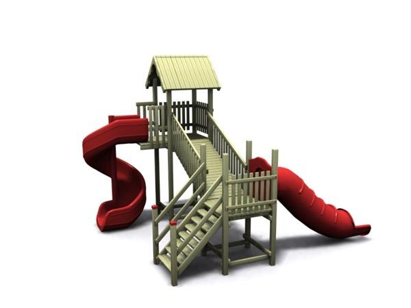 ahşap çocuk oyun parkı sgt-101